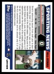 2005 Topps Update #169  Huston Street  Back Thumbnail