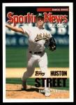 2005 Topps Update #169  Huston Street  Front Thumbnail