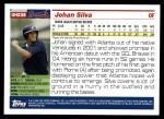 2005 Topps Update #236  Johan Silva   Back Thumbnail