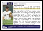 2005 Topps Update #273  Mike Esposito   Back Thumbnail