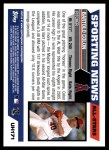 2005 Topps Update #171   -  Bartolo Colon All-Star Back Thumbnail