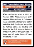 2005 Topps Update #212  Kevin Thompson  Back Thumbnail