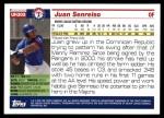 2005 Topps Update #305  Juan Senreiso   Back Thumbnail