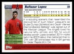 2005 Topps Update #233  Baltazar Lopez   Back Thumbnail