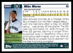 2005 Topps Update #224  Mike Morse   Back Thumbnail