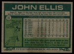 1977 Topps #36  John Ellis  Back Thumbnail