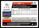 2006 Topps Update #23  Felipe Lopez  Back Thumbnail