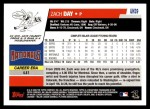 2006 Topps Update #39  Zach Day  Back Thumbnail