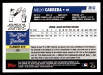 2006 Topps Update #143  Melky Cabrera  Back Thumbnail