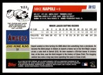 2006 Topps Update #153  Mike Napoli  Back Thumbnail