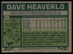 1977 Topps #97  Dave Heaverlo  Back Thumbnail