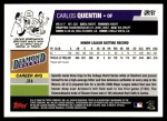 2006 Topps Update #161  Carlos Quentin  Back Thumbnail