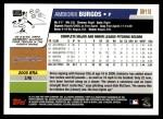 2006 Topps Update #118  Ambiorix Burgos  Back Thumbnail