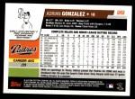 2006 Topps Update #58  Adrian Gonzalez  Back Thumbnail