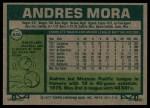 1977 Topps #646  Andres Mora  Back Thumbnail