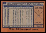 1978 Topps #49  Ed Kranepool  Back Thumbnail