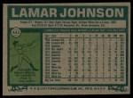 1977 Topps #443  Lamar Johnson  Back Thumbnail