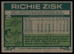 1977 Topps #483  Richie Zisk  Back Thumbnail
