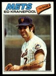 1977 Topps #201  Ed Kranepool  Front Thumbnail
