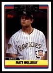2006 Topps Update #253   -  Matt Holliday All-Star Front Thumbnail