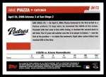 2006 Topps Update #172   -  Mike Piazza Season Highlights Back Thumbnail