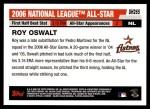2006 Topps Update #265   -  Roy Oswalt All-Star Back Thumbnail