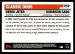 2006 Topps Update #321  Derek Jeter / Robinson Cano  Back Thumbnail