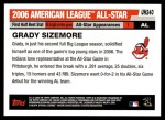 2006 Topps Update #240   -  Grady Sizemore All-Star Back Thumbnail