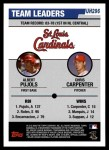 2006 Topps Update #296   -  Albert Pujols / Chris Carpenter Cardinals Team Leaders Back Thumbnail