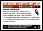 2006 Topps Update #277   -  Mark Buehrle All-Star Back Thumbnail