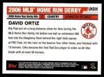 2006 Topps Update #286  David Ortiz  Back Thumbnail
