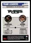 2006 Topps Update #311   -  Carl Crawford / Scott Kazmir Devil Rays Team Leaders Back Thumbnail