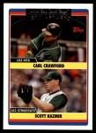 2006 Topps Update #311   -  Carl Crawford / Scott Kazmir Devil Rays Team Leaders Front Thumbnail