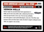 2006 Topps Update #224   -  Vernon Wells All-Star Back Thumbnail