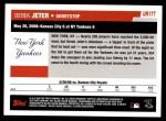 2006 Topps Update #177   -  Derek Jeter Season Highlights Back Thumbnail
