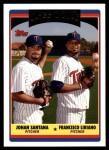 2006 Topps Update #328  Francisco Liriano / Johan Santana  Front Thumbnail