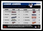 2006 Topps Update #209   -  Francisco Rodriguez / Bobby Jenks / Brendan Ryan Leaders Back Thumbnail