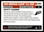 2006 Topps Update #245   -  Scott Kazmir All-Star Back Thumbnail