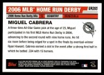 2006 Topps Update #285  Miguel Cabrera  Back Thumbnail