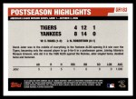 2006 Topps Update #183   -  Derek Jeter Postseason Highlights Back Thumbnail