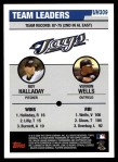 2006 Topps Update #309   -  Roy Halladay / Vernon Wells Blue Jays Team Leaders Back Thumbnail