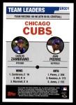 2006 Topps Update #301   -  Carlos Zambrano / Juan Pierre Cubs Team Leaders Back Thumbnail