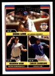 2006 Topps Update #214   -  Derek Lowe / Brandon Webb / Carlos Zambrano Leaders Front Thumbnail