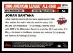 2006 Topps Update #246   -  Johan Santana All-Star Back Thumbnail