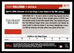 2006 Topps Update #173   -  Cory Sullivan Season Highlights Back Thumbnail
