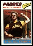 1977 Topps #550  Randy Jones  Front Thumbnail