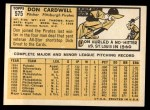 1963 Topps #575  Don Cardwell  Back Thumbnail
