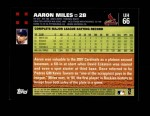 2007 Topps Update #66  Aaron Miles  Back Thumbnail