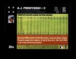 2007 Topps Update #71  A.J. Pierzynski  Back Thumbnail
