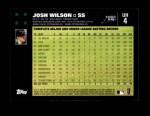 2007 Topps Update #4  Josh Wilson  Back Thumbnail